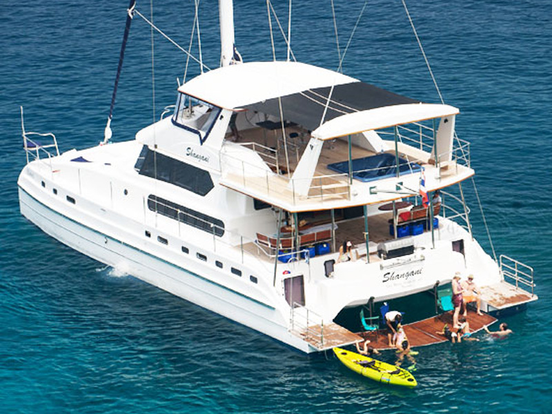 Luxury Catamaran Shangani for special events in Phuket